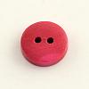 2-Hole Dyed Wooden ButtonsX-BUTT-R031-036-3