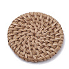 Handmade Reed Cane/Rattan Woven BeadsX-WOVE-Q075-04-2
