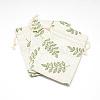 Polycotton(Polyester Cotton) Packing Pouches Drawstring BagsABAG-T004-10x14-16-1