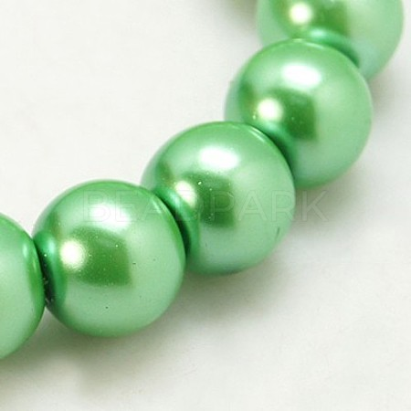 Glass Pearl Round Loose Beads For Jewelry Necklace Craft MakingX-HY-6D-B64-1