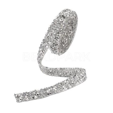 Glitter Resin Hotfix Rhinestone(Hot Melt Adhesive On The Back)OCOR-TAC0002-01-10mm-1