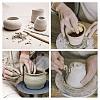 BENECREAT 40pcs/Set Ceramic Pottery Clay Model Home Craft ArtTOOL-BC0007-02-7