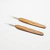 Bamboo Handle Iron Crochet Hook NeedlesX-TOOL-R034-0.5mm-1