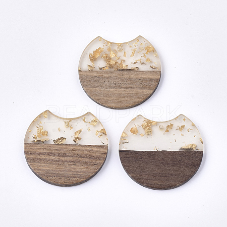Resin & Walnut Wood PendantsRESI-T023-A-11H-1