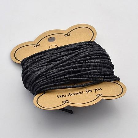 Black Waxed Cotton CordX-YC2mm131-1