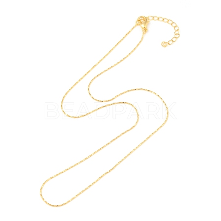Gold Plated Tin Alloy Snake Chain Fine Necklace MakingNJEW-BB10181-18-1
