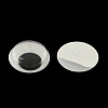 Black & White Plastic Wiggle Googly Eyes Buttons DIY Scrapbooking Crafts Toy Accessories with Label Paster on BackKY-S002B-15mm-1