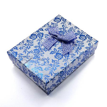 Rectangle Cardboard Jewelry Set BoxesX-CBOX-S012-06-1