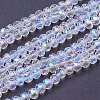Faceted Round AB Color Electroplate Glass Beads StrandsX-EGLA-J042-4mm-AB03-2