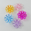 Garment Findings Transparent Acrylic Flower Sewing Shank ButtonsX-TACR-R18-M-1