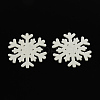 Dyed Snowflake Wood CabochonsWOOD-R240-17-1