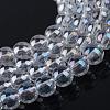Electroplate Glass Beads StrandsX-EGLA-Q062-6mm-A09-1