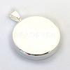 Brass Pendant Cabochon SettingsX-KK-S750-07S-2