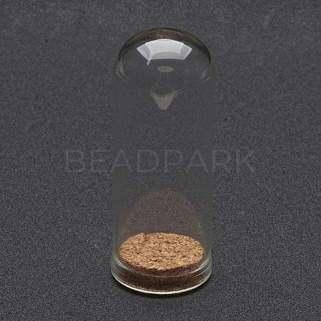 Glass Dome Cloche CoverX-AJEW-P043-L-1