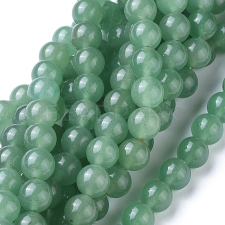 Natural Green Aventurine Beads Strands G-L476-10-1