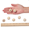 Unfinished Natural Wood Beads Spacer Craft Beads for DIY Macrame Rosary JewelryX-WOOD-S651-25mm-LF-3
