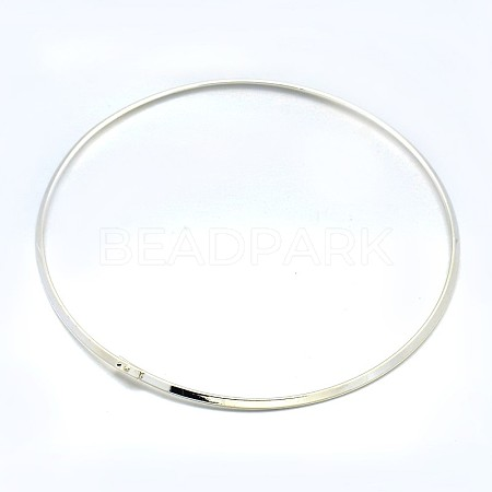 Brass Choker Collar Necklace MakingX-BJEW-F132-02S-1