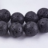 Natural Lava Stone Bead Strands X-G-R193-18-8mm-3