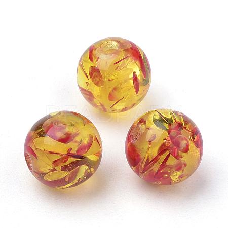Resin Imitation Amber BeadsX-RB660Y-14mm-2-1