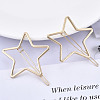 Alloy Hollow Geometric Hair Pin PHAR-N005-014G-4