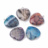 Dyed Natural Crackle Agate PendantsX-G-S330-20-1