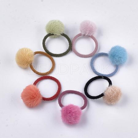 Imitation Wool Girls Hair AccessoriesX-OHAR-S190-17-1