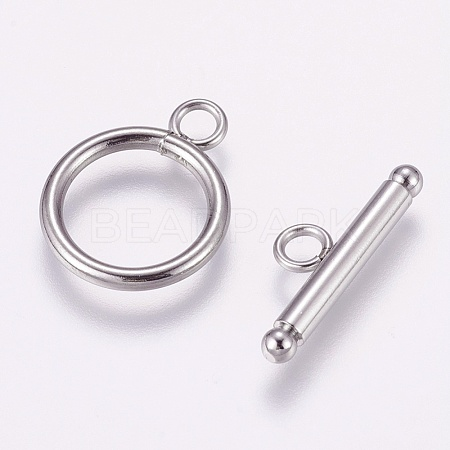 304 Stainless Steel Toggle Clasps X-STAS-K148-01P-1