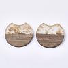 Resin & Walnut Wood PendantsRESI-T023-A-11H-2