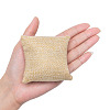 Kraft Hemp Pillow Holder for Jewelry Bracelet & Watch Displays BDIS-WH0002-01-3