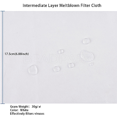 3 Layer Non-Woven Fabric Kit for DIY Mouth CoverAJEW-WH0105-29B-1