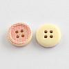 4-Hole Printed Wooden ButtonsX-BUTT-R032-070-2