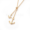 304 Stainless Steel Lariat NecklacesNJEW-O107-05G-2
