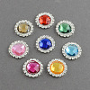 Faceted Dome/Half Round Brass Acrylic Rhinestone Shank ButtonsRB-S020-02-M3-1