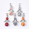 Synthetic Mixed Gemstone Pendants G-S246-04-1