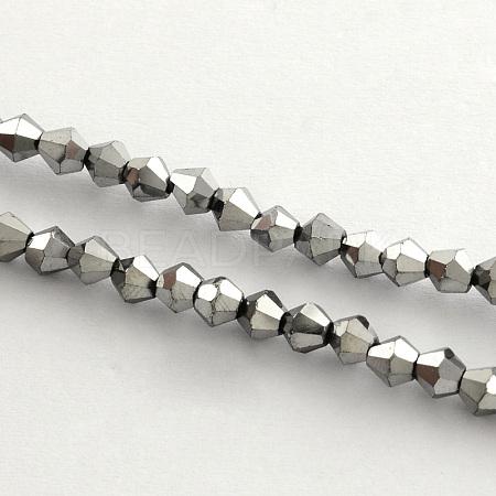 Electroplate Glass Bead StrandsX-EGLA-R094-3mm-08-1
