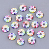 Rainbow Color Handmade Polymer Clay Beads StrandsX-CLAY-R091-6mm-02-3