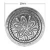 Tibetan Style Shank ButtonsX-TIBEB-R052-AS-LF-1