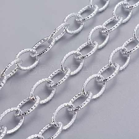 Platinum Plated Aluminum Cable ChainsX-CHA-K12619-K15-1