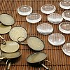 25mm Transparent Clear Domed Glass Cabochon Cover for Brass Photo Leverback Earring MakingKK-X0013-NF-1