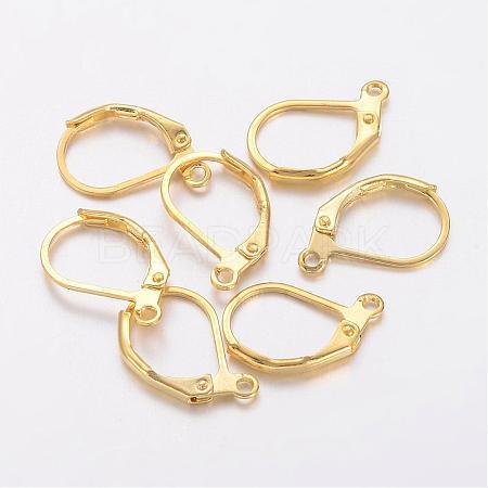 Brass Leverback Earring FindingsX-KK-H670-G-NF-1