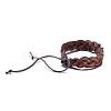 Adjustable Casual Unisex Braided Leather BraceletsBJEW-BB15584-3