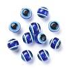 Round Evil Eye Resin BeadsX-RESI-R159-12mm-08-2