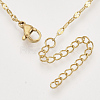 Brass Cable Chains Necklace MakingX-KK-T048-037G-NF-2