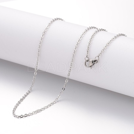 304 Stainless Steel Necklace Making MAK-K004-14P-1
