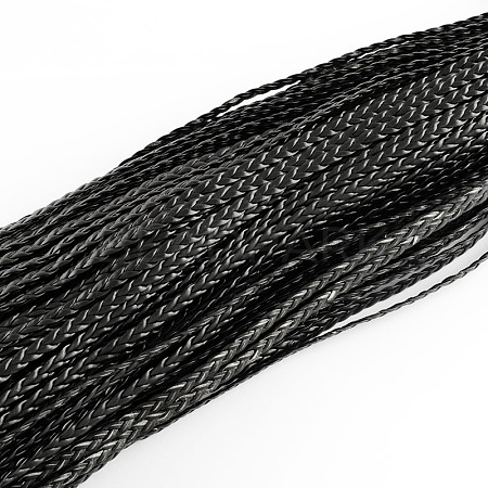 Braided Imitation Leather Cords LC-S002-5mm-02-1