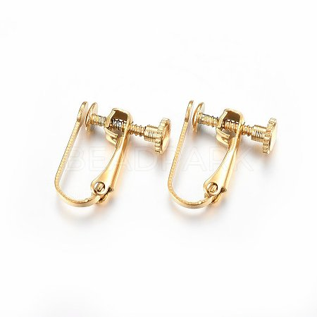 304 Stainless Steel Clip-on Earring Findings X-STAS-H467-04G-1
