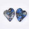 Synthetic Gold Line Regalite/Imperial Jasper/Sea Sediment Jasper PendantsG-S329-052A-2