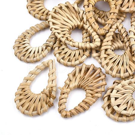 Handmade Reed Cane/Rattan Woven PendantsX-WOVE-T005-17-1