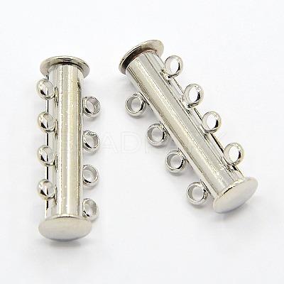 4-Strands Brass Magnetic Slide Lock ClaspsX-KK-H310-P-1