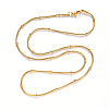 304 Stainless Steel Round Snake Chain Necklace MakingNJEW-S420-009A-G-3